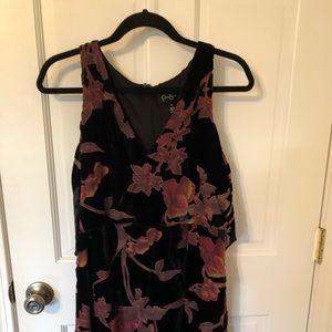 Jessica Simpson velvet dress